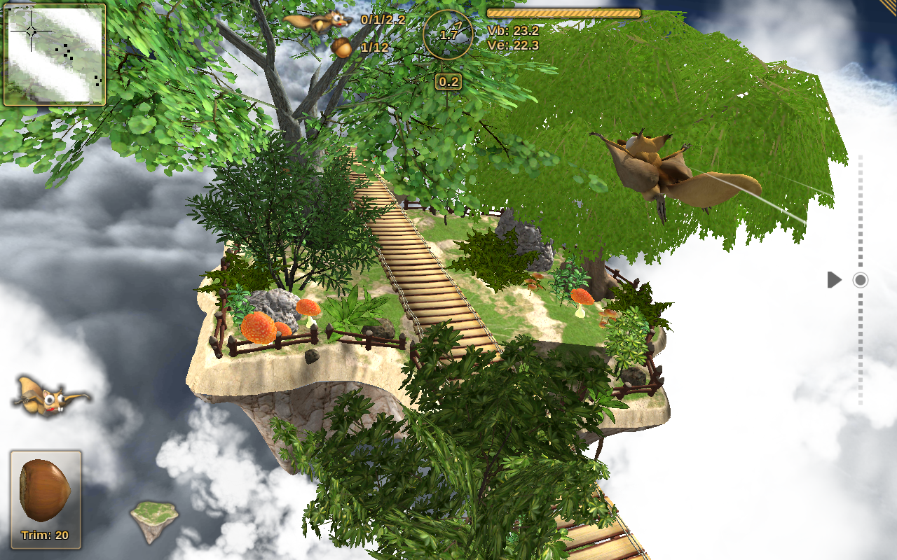 Crazy Flying Squirrel Free- screenshot