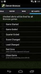 Sports Alerts - NFL edition - screenshot thumbnail