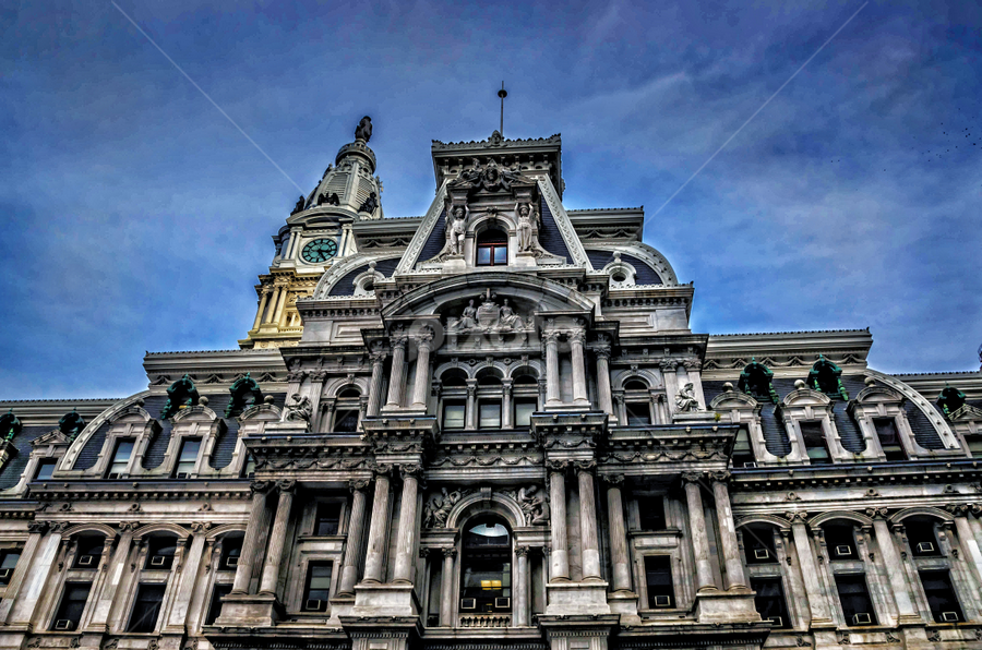 City Hall in Philly by Patricia Kousaleos - City,  Street & Park  Historic Districts ( doors, city hall, building, windows, philadelphia, architecture, city )