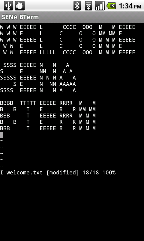 SENA BTerm Bluetooth Terminal - screenshot
