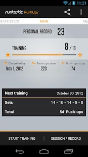 Runtastic Push-Ups Workout PRO Screenshot