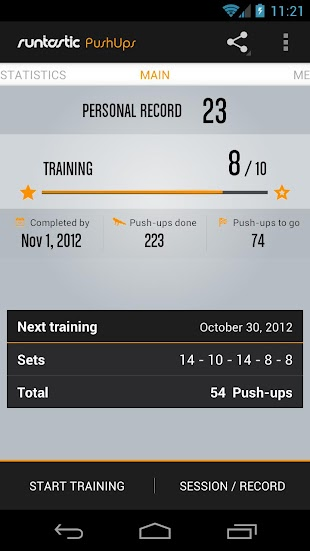 Runtastic Push-Ups Workout PRO- screenshot thumbnail