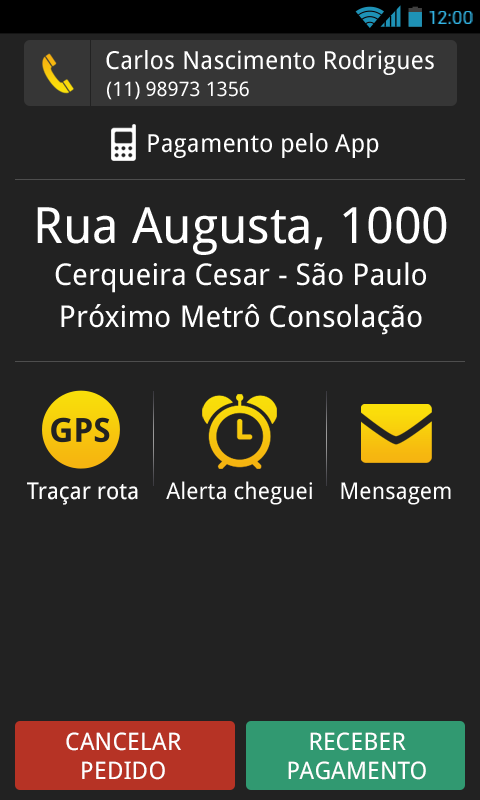 Taxijá - Motorista - screenshot