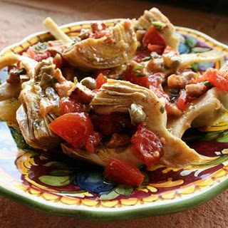 Artichokes With Warm Pancetta Dressing