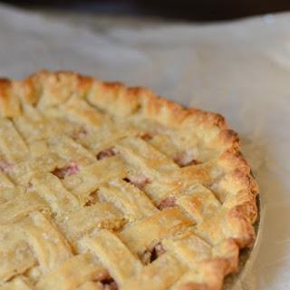 Rhubarb Custard Pie Recipe (Heaven in a Pie Tin!)
