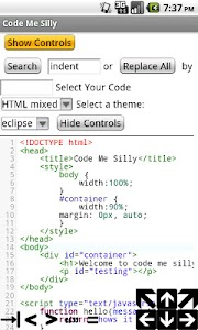 Syntax Highlighted Code Editor screenshot 1
