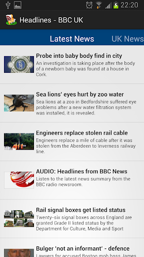 Headlines - BBC UK