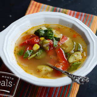 Copycat Smart Ones Fire Roasted Vegetable Soup.