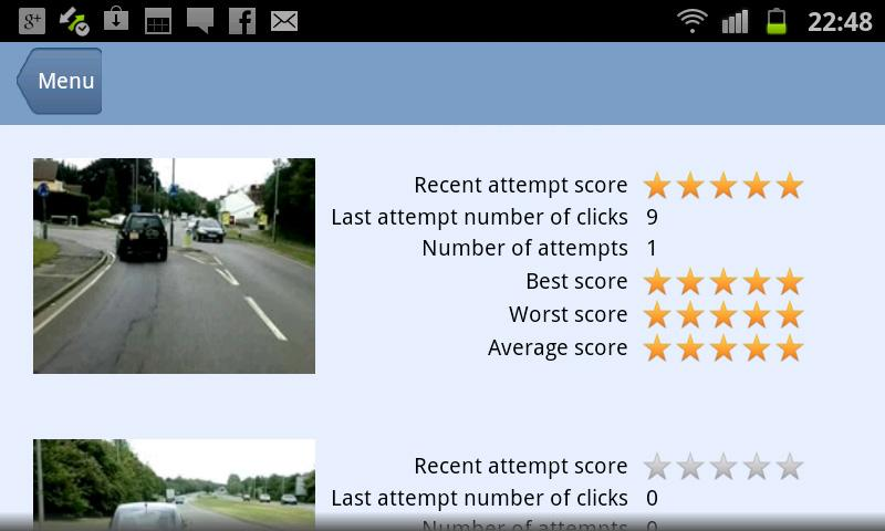 Hazard Perception Test- screenshot