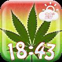 Cannabis Weather Clock Widget icon