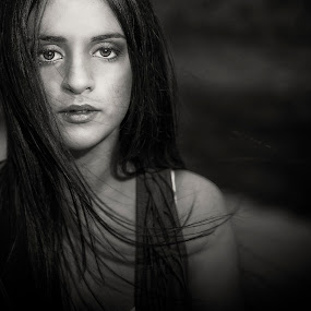 Pamela 2732 by Keith Darmanin - Black & White Portraits & People ( , woman, b&w, portrait, person )