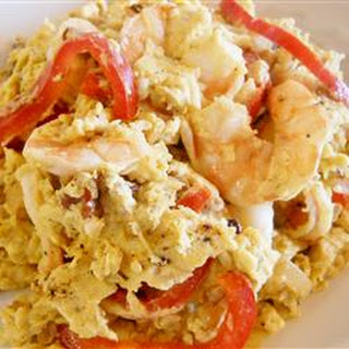 Peppered Shrimp and Eggs