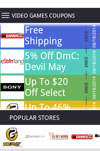 Video Game Deals and Coupons
