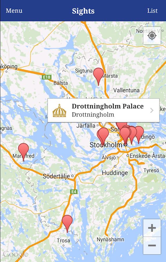 Swedish Royal Palaces Android Apps On Google Play - Jarfalla sweden map