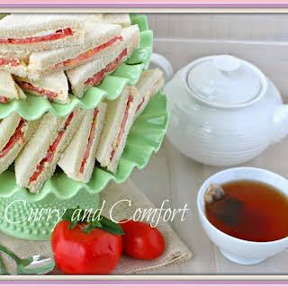 Tomato Tea Sandwiches (Throwback Thursday).