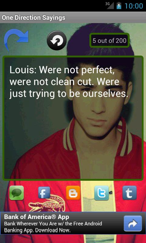 One Direction Sayings - screenshot