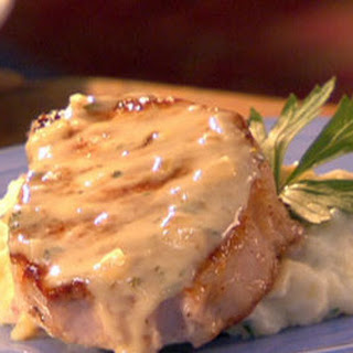 Pork Chops in Creamy Champagne Sauce with Rustic Garlic Mashed Potatoes Recipe