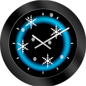 Snowflake Christmas Clock