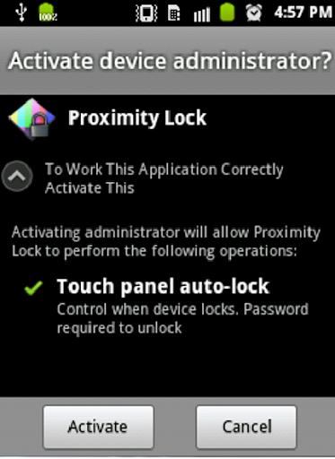Proximity Lock Screen