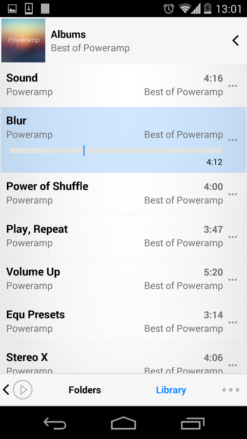 Poweramp skin 2in1 - screenshot