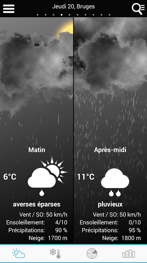 Weather for Belgium - screenshot