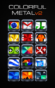 Colorful Metal v2 - Icon Pack v3.0.1