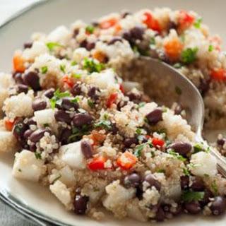 Jicama, Black Bean and Quinoa Salad