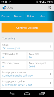 Jucy Workout Gym & Fitness Log- screenshot thumbnail