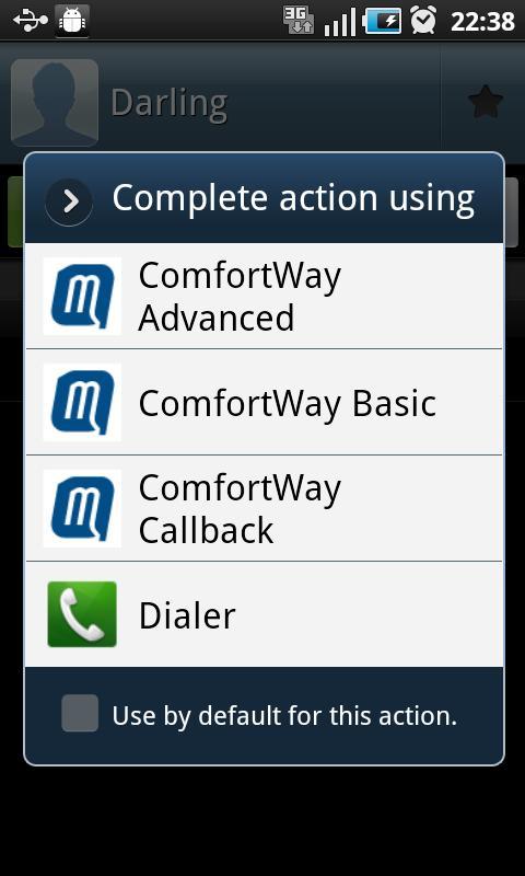 ComfortWay - screenshot