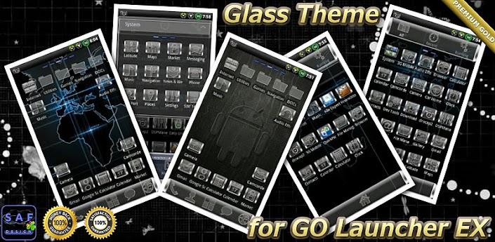 GLASS GO Launcher EX Theme v1.02