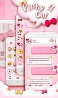 Screenshot of GO SMS PRO PINKYCAT THEME