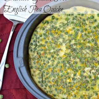 Crustless Gluten Free English Pea Quiche