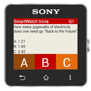 Trivia for SmartWatch- screenshot thumbnail