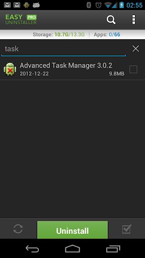 التطبيقات Easy Uninstaller v2.1.1