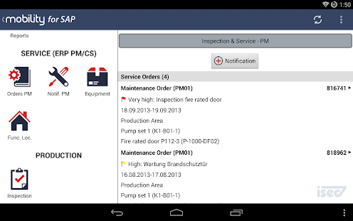 Mobility for SAP for SECTOR - screenshot thumbnail