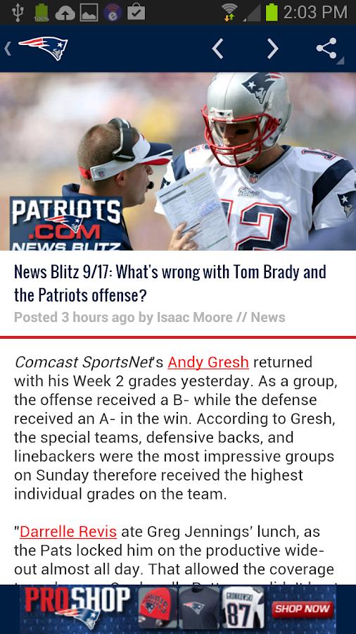 New England Patriots- screenshot