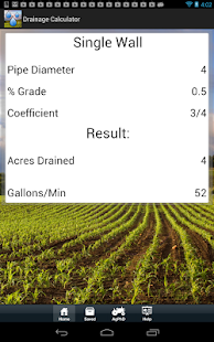 Drainage Tile Calculator - screenshot thumbnail