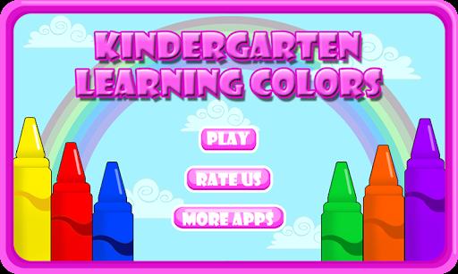 Preschool kids learn colors