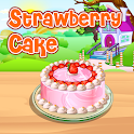 Strawberry Cake Cooking