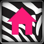 Go Launcher Themes Pink Zebra icon
