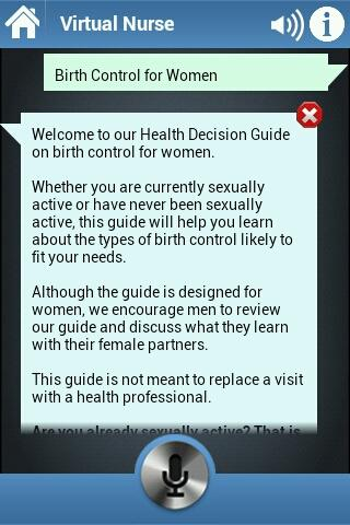Virtual Nurse - Birth Control - screenshot