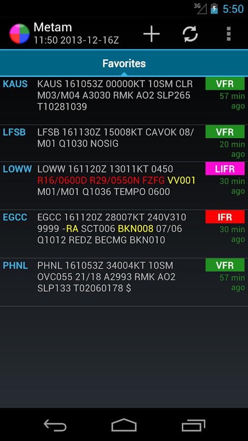 Metam - Aviation Weather/METAR- screenshot