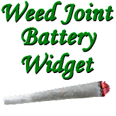 Weed Joint HD Battery Widget