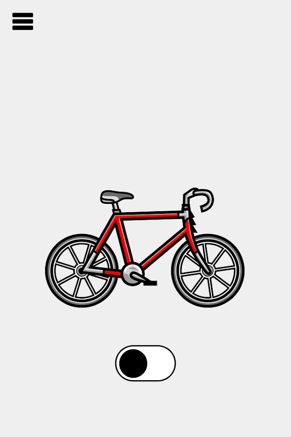 Fietsmodus: screenshot