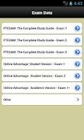 Screenshot of PT Exam Track