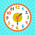 Clock time game hours, minutes icon