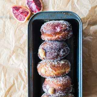 Blood Orange Cream-Filled Doughnuts.