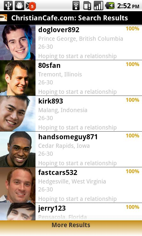 Christian Dating Cafe - screenshot