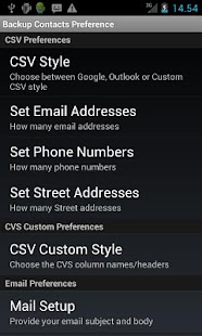 Backup Contacts - screenshot thumbnail