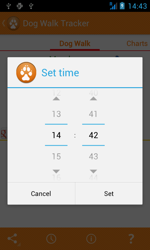 Dog Walk Tracker App